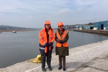 Port of Teignmouth tour with local MP