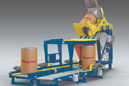 Flexicon launces new automated bulk solids drum dumping system