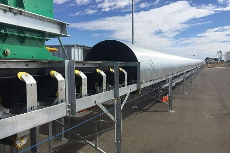 Kinder Australia conveyor covers aim to protect personnel and the environment