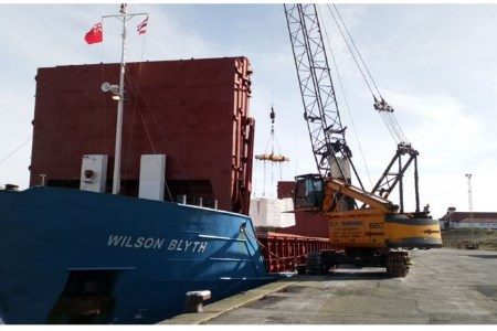 Port of Silloth handles first wood pulp delivery for Futamura Group