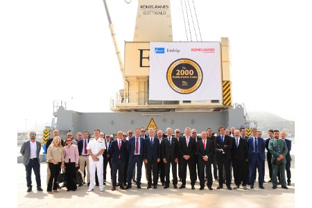 2000th Konecranes Gottwald mobile harbour crane celebrated with Ership in Cartagena