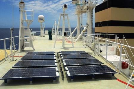 Ship solar power system installed on MV Panamana