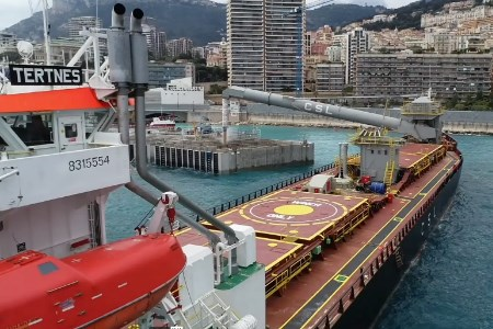 CSL self-unloaders contributing to sustainability of land reclamation project in Monaco