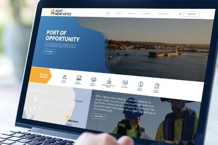 Port of Newcastle reveals news logo