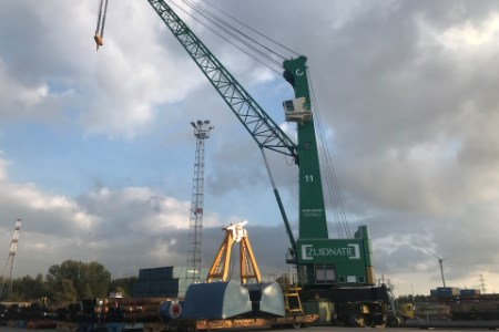 Zuidnatie Breakbulk commissions electric Konecranes Gottwald mobile harbour cranes