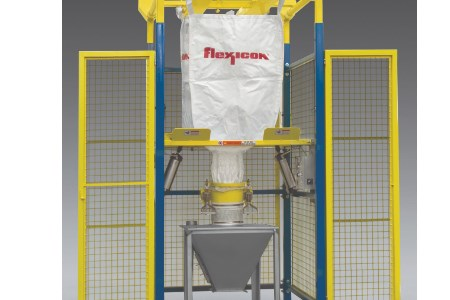 Flexicon releases new bulk bag discharger with safety cage